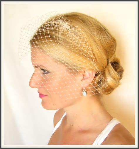 Wedding Hair Accessories Birdcage Veil by Ready To Ship 9 Inch Bridal Birdcage Veil Blusher Veil