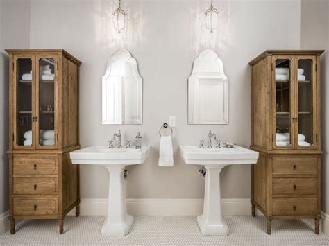cabinets for pedestal bathroom sinks double pedestal sink bathroom traditional with glass front cabinet bathroom storage