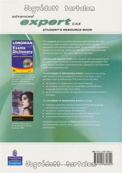 expert advanced 3rd edition 1447961986 advanced expert cae new edition students resource book no key cd pack nyelvk 246 nyv forgalmaz 225 s