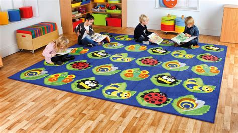 Classroom Floor Mats by Back To Nature Square Bug Placement Carpet Mat1038