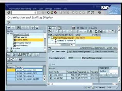 sap hr tutorial for beginners sap hr tutorial organizational structure by grace vw