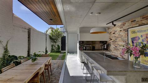 Modern Kitchen Designs Sydney Long Courtyard House Challenged The Typical Terrace