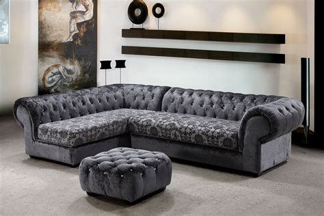 Design Ideas For Grey Velvet Sofa Fascinating Furniture For Living Room Decoration Using Black And Grey Sectional Sofa Sectional