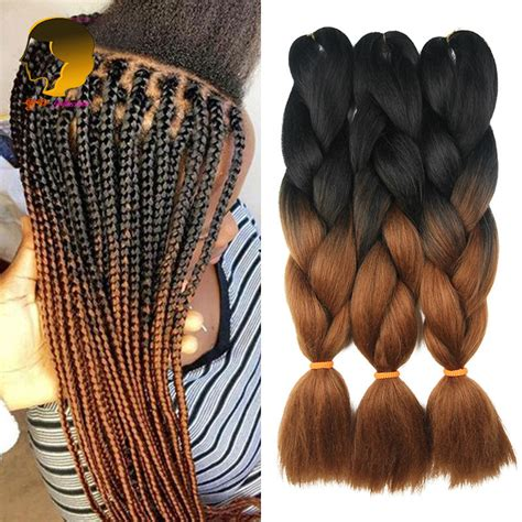 ombre synthetic braiding hair crochet braids synthetic ombre kanekalon braiding hair