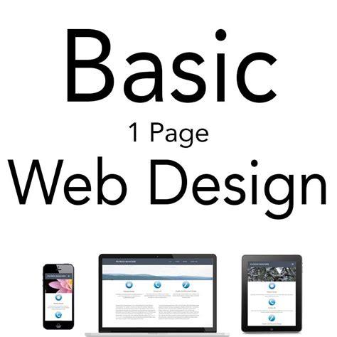 html design basics basic web design package 1 page website pb web and