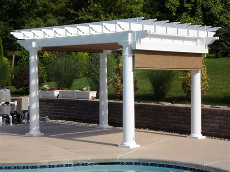 Go Outdoors In Comfort With A Comp Shade by Vinyl Pergolas High Quality Plastic Vinyl Pergolas At