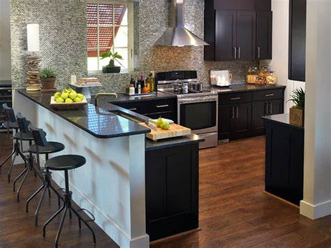 Dark Granite Countertops Hgtv Kitchens With Black Countertops