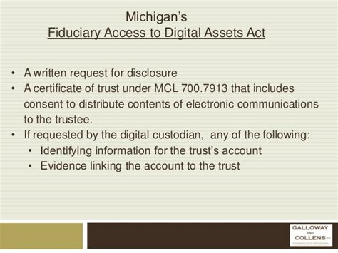 Fiduciary Letter Of Authority