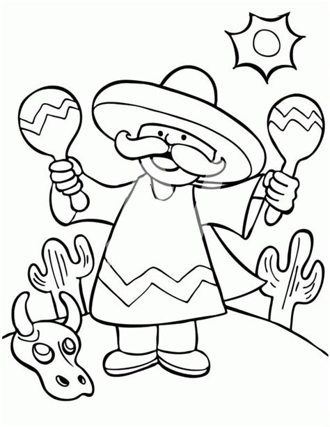 mexican coloring pages to print coloring home