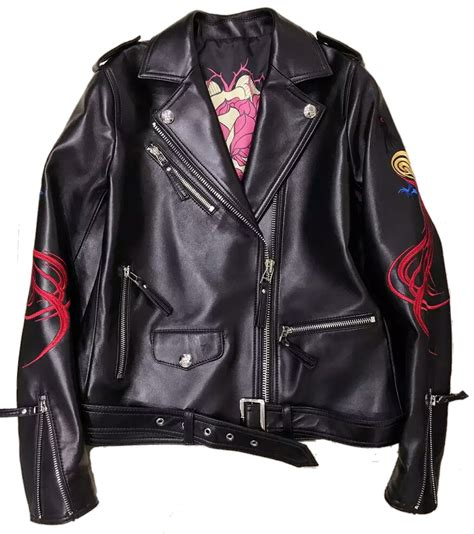 design monogram jacket indie designs phoneix and skull embroidery leather jacket