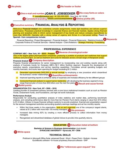 resume resume for it professionals