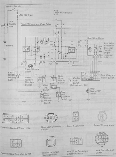 2004 toyota tacoma power window wiring diagram new