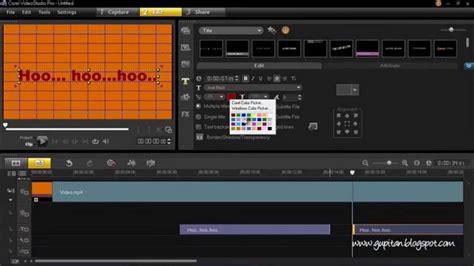 membuat video karaoke cara membuat lyric karaoke menggunakan corel video studio
