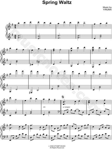 i like chopin testo yiruma quot waltz quot sheet piano in g major