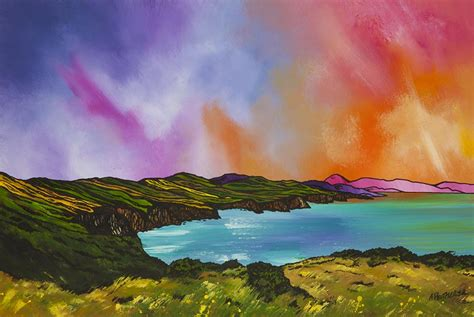 Landscape Artists Edinburgh Paintings Prints Of Pease Bay Berwickshire