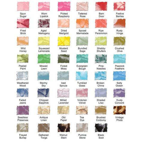distress ink color chart craftysaver ranger tim holtz distress stain