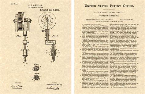 tattoo gun patent tattoo machine patent art print ready to frame