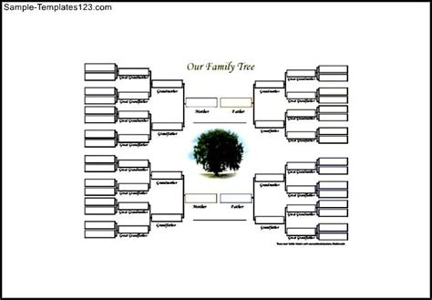 editable family tree diagram free pdf format sle