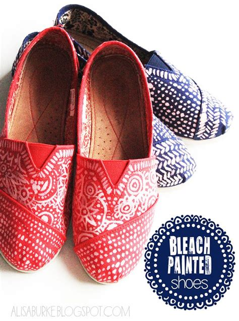 diy toms shoe pattern diy bleached shoes crafts shoes toms and