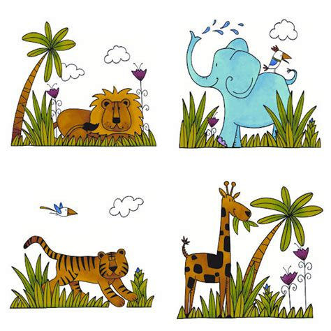 wildlife wall stickers wildlife kidifexs peel and stick wall stickers