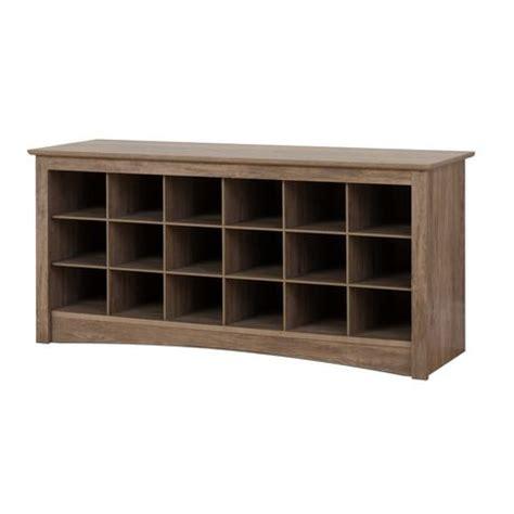 prepac shoe storage cubbie bench prepac shoe drifted gray cubbie bench walmart canada
