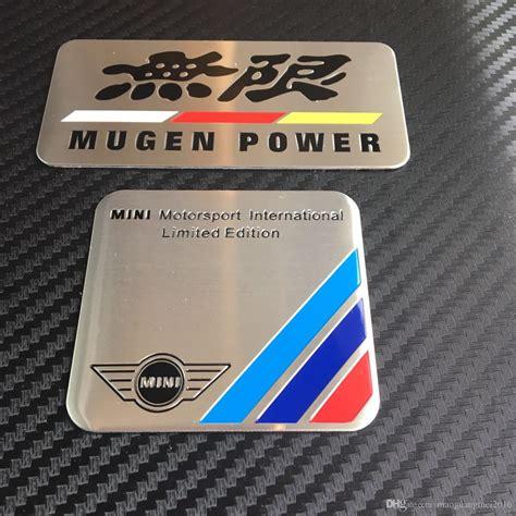 emblem mugen power mini 2017 300logo aluminum badge mini mortorsport international