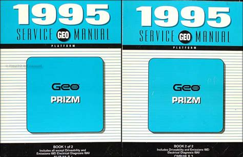 where to buy car manuals 1995 geo prizm electronic toll collection 1995 geo prizm repair shop manual original set