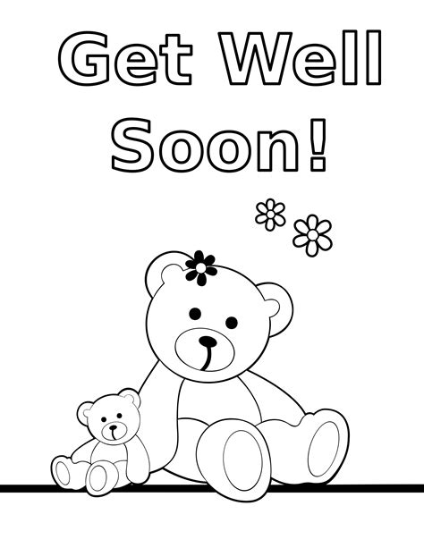 get templates for pages get well soon mom coloring pages coloring pages