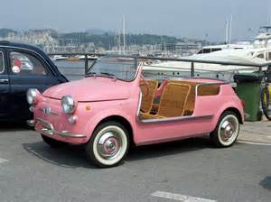 Fiat 500 Pink Convertible Classic And Vintage Cars Fiat 500 Jolly Ghia