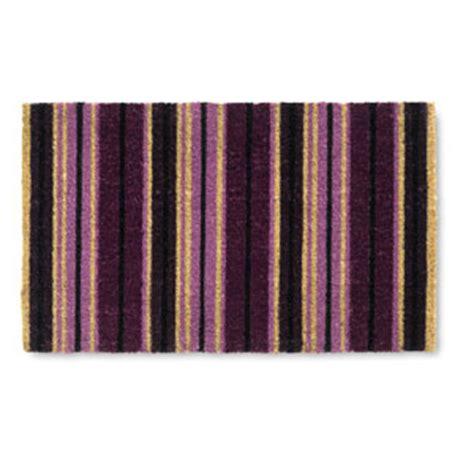 Purple Doormat linea futura doormats purple striped matting carpets