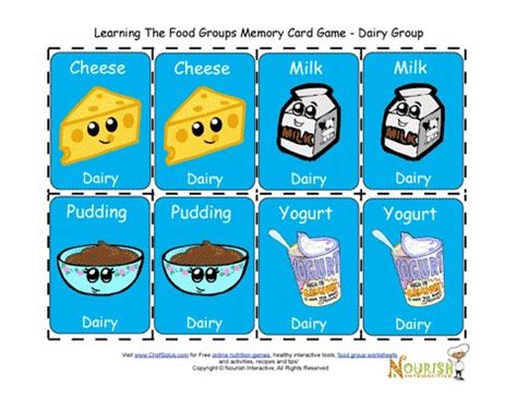 fun printable card games kids matching dairy card game printable game for children