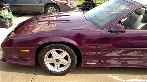 purple convertible 1992 camaro z28 purple convertible