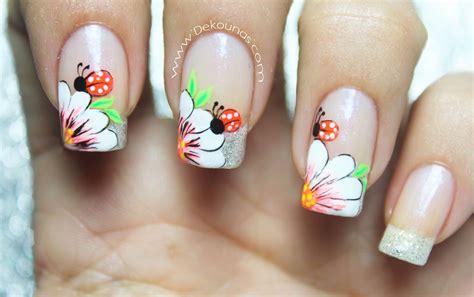 imagenes de uñas flores videos deko u 209 as moda en tus u 241 as