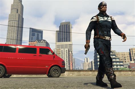 Lk 76 C Captain America captain america the winter soldier gta5 mods