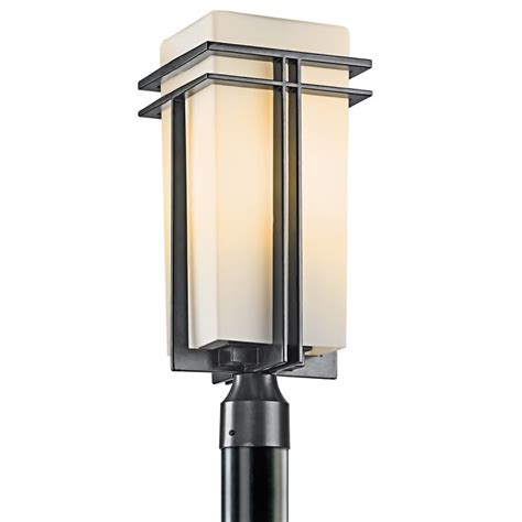 Modern Outdoor Post Lights Kichler 49207bk Black Painted Modern Single Light Large Outdoor Post Light From The Tremillo