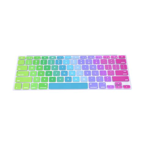 Solid Color Silicone Keyboard Cover Protector Skin For Macbook Air jual rainbow color multicolor silicone keyboard cover protector skin for macbook pro 15 inch
