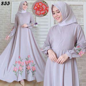 Detia Maxi Gamis Gamis Busui Dress Umbrella gamis maxi katun silky bordir c833 baju muslim modern