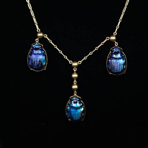 antique roadshow tiffany tiffany favrile scarab beetle necklace ca 1915