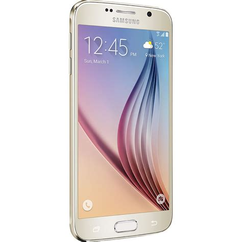 samsung galaxy s6 sm g920a 32gb at t sm g920a 32gb gold b h