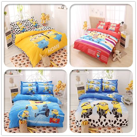 despicable me bedding 3d minions bedding set cartoon despicable me 2 bedclothes