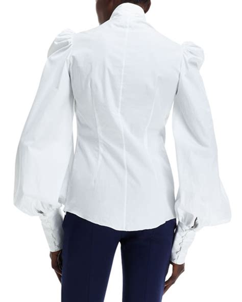 Tie Neck Sleeve Shirt mcqueen tie neck sleeve shirt