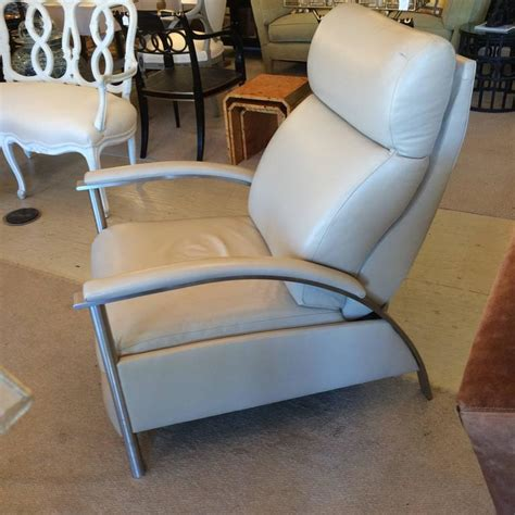 sleek leather recliner sleek leather reclining chair at 1stdibs