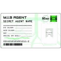 cbbc mi9 secret agent id card polyvore