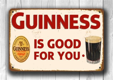 Retro Style Home Decor Guinness Sign Vintage Pub Signs Classic Metal Signs