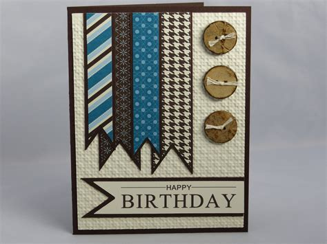 Handmade Masculine Birthday Cards - stin up handmade happy birthday greeting card masculine