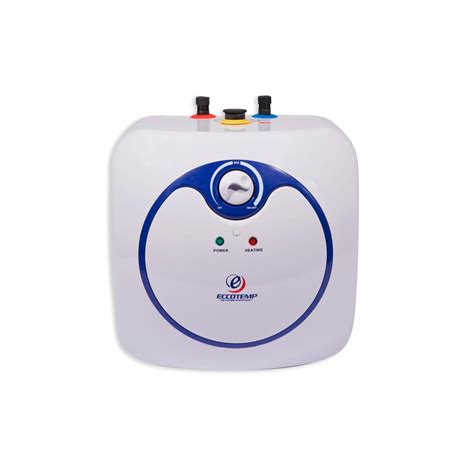 small electric water heater 10 gal eccotemp 7 gal capacity 10 year electric mini tank water