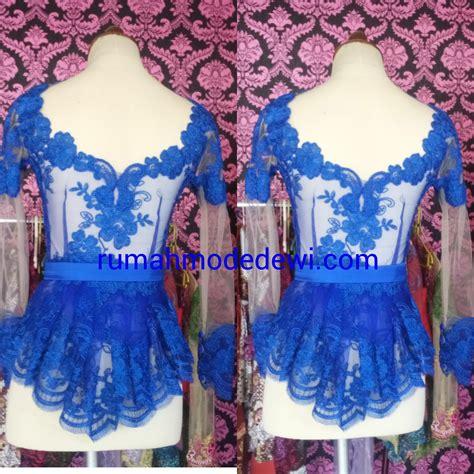 Dress Wanita Peplum Biru kebaya warna kebaya wisuda modern 081212346681 75 kebaya