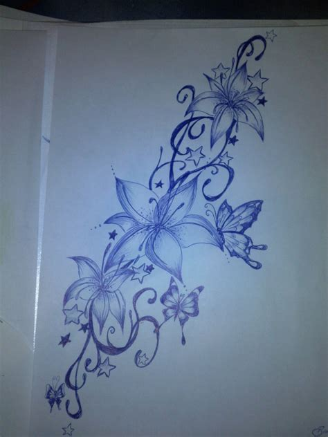flower and butterfly tattoo designs butterfly flower drawing www imgkid the