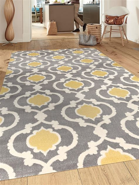 Yellow And Gray Kitchen Rugs Rugshop Moroccan Trellis Contemporary Indoor Area Rug 5 3 Quot X 7 3 Quot Gray Yellow