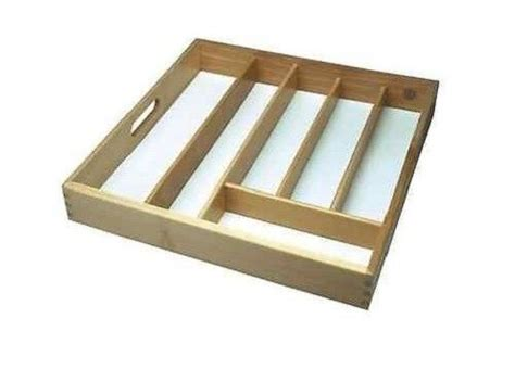 new large beechwood wooden cutlery drawer tray organizer